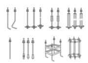 Фундаментные анкерные болты с анкерной плитой , с загибом ГОСТ 243798.8